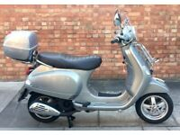 Vespa LX 125cc (13 REG) Silver, Superb condition, only 2665 miles, Lots of extras!