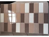 6 large mosaic style kitchen/bathroom tiles with off-cuts
