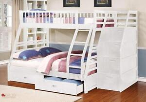 FREE Shipping in Toronto! Twin over Full Bunk Bed with Stairway Chest and Storage Drawers!  Brand New!