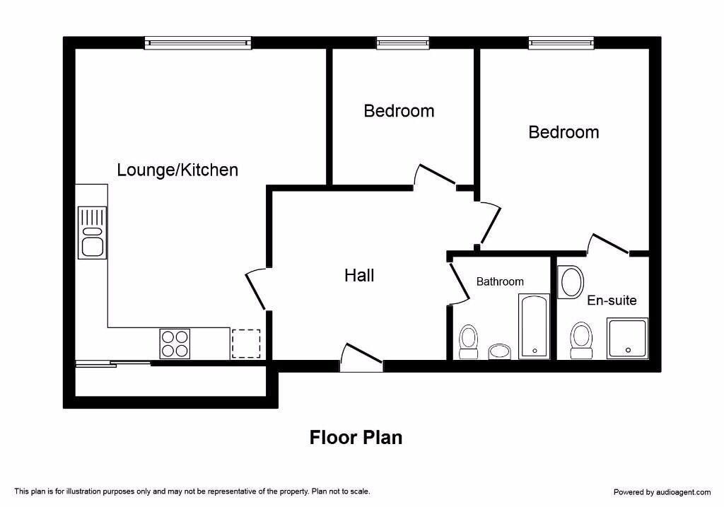 2 bedroom flat to rent (2 bathrooms)