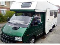 BARGAIN! REDUCED FOR QUICK SALE !! Renault Trafic motorhome /camper. Full MOT, Power Steering.