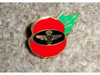 Parachute Regiment Poppy Pin