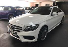 "Mercedes-Benz C Class 2.1 C220d AMG Line (Premium) 4dr (start/stop) 19"" ALLOYS PANORAMIC ROOF"