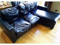 FREE 3 seater couch with chaise. Worn, but will still fairly presentable and usable.