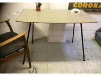 1950S GREY FORMICA DINING TABLE