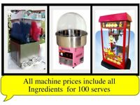 Popcorn Candy Floss Machines Hire - Self service or with attendant other Party/Event Services