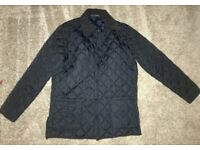 Soul Star Mens Navy Quilted Jacket - Size Large