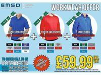 Workwear Offer - Polo Shirt Fleece & Sweatshirt