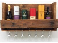 Reclaimed Pallet Wine/Liquor Rack