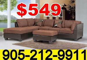 Sectional sofa with free ottoman only $549