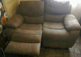 Two seater sofa , recliners