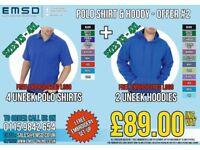 Workwear Uneek Polo Shirt & Hoody Offer 2