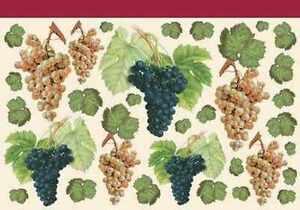 Decoupage paper grapes grape vine design ebay for Buy grape vines for crafts