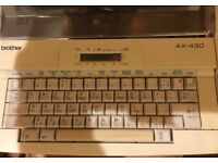 ELECTRONIC TYPEWRITER BROTHER AX430