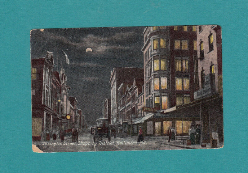 Postcard Lexington Street Baltimore Maryland postcard 1903  Divided Back Printed