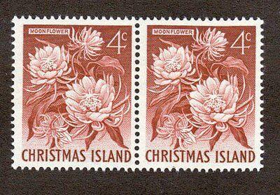 Christmas Island Scott 12 - Moonflower. Horizontal Pair. MNH. OG.    #02 CI12P