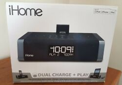 iHome IDN45 FM Stereo Dual alarm clock, charge, play, iPod, iPhone, iPad