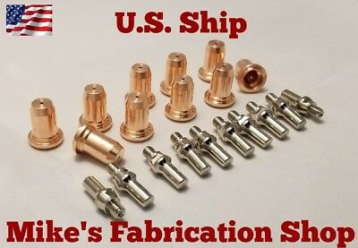 20 Pc Electrodes Nozzles For Lincoln Electric 20 Plasma Cutter K2820-1
