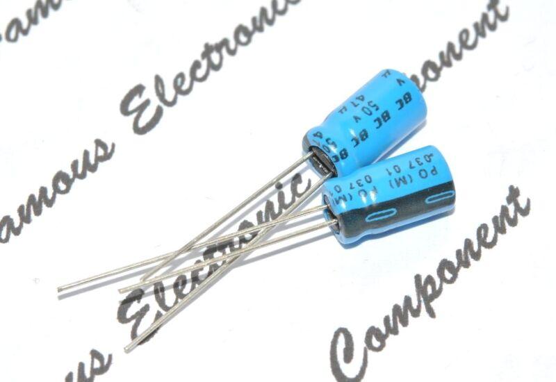 10pcs - Vishay BCcomponents 037 47uF (47µF) 50V Radial Aluminum Capacitor