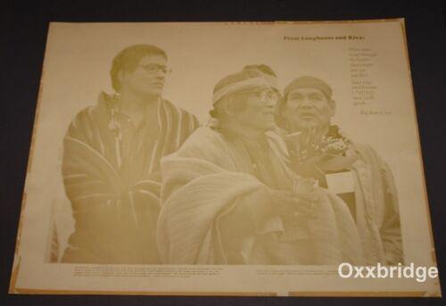 DAVID MONOGYE HOPI TRIBE Native American ORIGINAL POSTER 1972 AKWESASNE NOTES
