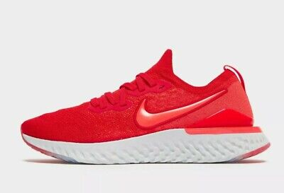 Nike EPIC REACT FLYKNIT 2-Trainer (UK 4.5/EUR 37.5/US 5Y) Red
