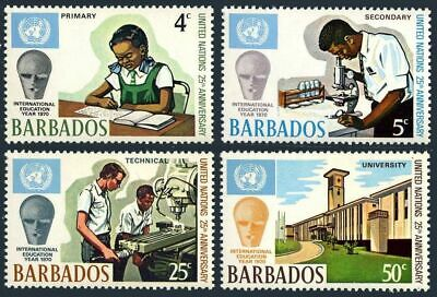 Barbados 344-347, MNH. Mi 313-316. UN 25th Ann. Education Year 1970. University.