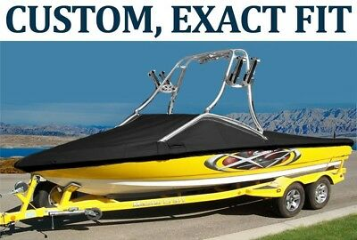 9.25OZ SUNBRELLA CUSTOM FIT BOAT COVER MASTERCRAFT X45 W/ ZFT TOWER W/ SWPF 2007