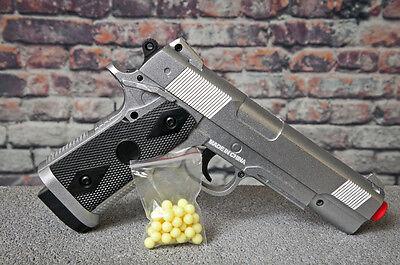 Spec Ops Full Metal Spring Airsoft Pistol Silver HandGun Hand Gun - Silver Metal Spring