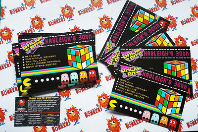 80s PERSONALISED BIRTHDAY / PARTY INVITATION