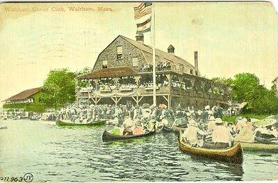 Waltham MA The Waltham Canoe Club 1910