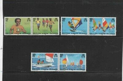 VIRGIN ISLANDS #471-476 1984 SUMMER OLYMPICS MINT VF NH O.G PAIRS