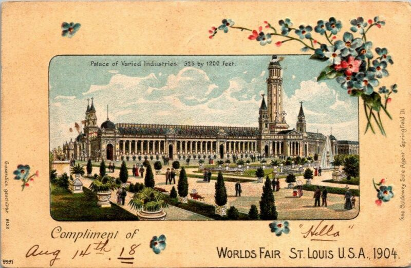 Postcard Worlds Fair St Louis USA 1904 Undivided Back