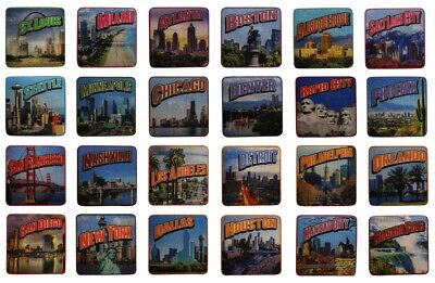 American US City Printed Iron On Patch - Cities America Travel Souvenir (Kids City Locations)