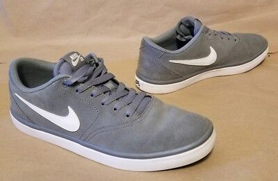 Nike SB Portmore Solarsoft Gray Suede Skate Shoes 8.5 VERY CLEAN Grey