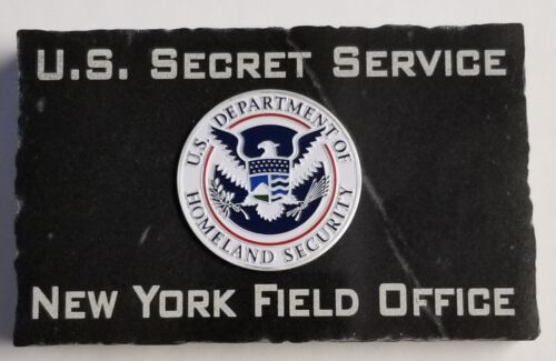 USSS Secret Service New York Field Office Homeland Emblem Black Marble 5X3