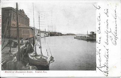 Mouth Of Hillsboro River Tampa Fl Nice Postcard Postally Used In 1908
