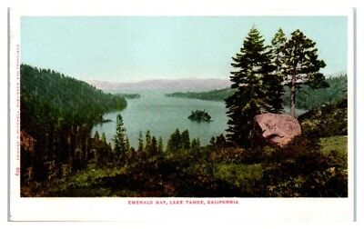 Early 1900s Emerald Bay, Lake Tahoe, CA Postcard