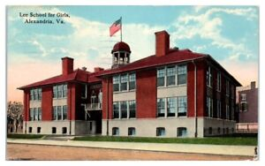 1918 Lee School for Girls, Alexandria, VA Postcard