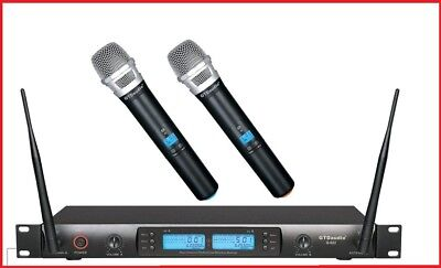 GTD Audio 2x100 Channel UHF Wireless Hand Held Microphone Mic System 622H  , used for sale  Shipping to Nigeria