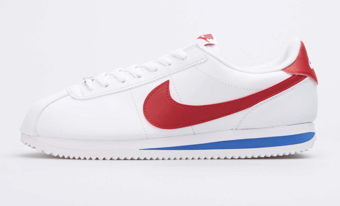 Nike Cortez Basic Leather Shoes White Varsity Red 819719-103