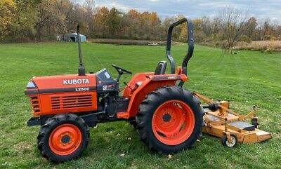Kubota L2500 4x4 Tractor 3 Vortex Diesel 758 Hours W Woods 6 Mowing Deck