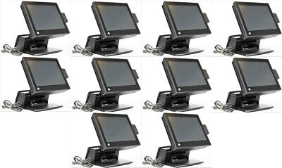 Lot Of 10 Hp Rp7800 Retail Pos System 15 Touchscreen 2.5ghz 4gb 500gb Sdd Hdd