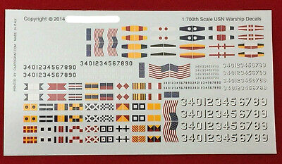 US Navy Ship Decals 1/700 Scale