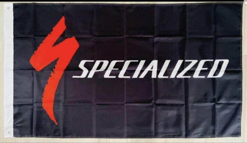 Specialized Bicycles banner flag wall garage mountain  downhill cycling 3x5 ft
