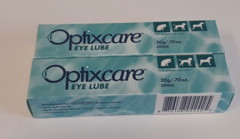 Optixcare Eye Lube Lubricant for Dogs & Cats 20gm (2Pack) 08/22