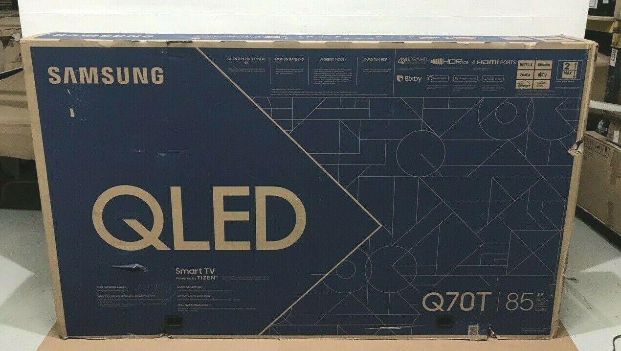qn85q70tafxza 85 4k qled smart tv flat