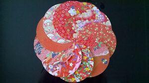 Traditional Japanese Chiyogami Washi Yuzen Paper ~20 Circular Sheets ~12cm wide