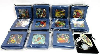 Lot of 12 Compact Mirror Gift Boxes Pouch Makeup Travel Beauty Purse Vanity A-19 - Bulk Compact Mirrors