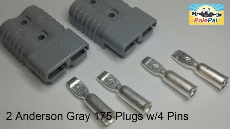 Anderson Style SB175 Connector Kit GRAY  6325G5 2 Connectors 4 Pins 0,2, 4 AWG