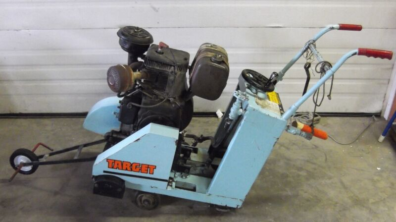 Target Walk Behind Concrete Saw with Wisconsin 9.2 HP Gasoline Engine